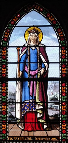 """Sfânta Adelaida de Italia (n. 931 sau 932, Orbe, astăzi în Elveția – d. 16 decembrie 999), numită și Adelaida de Burgundia, a fost cea de a doua soție a împăratului romano-german Otto I """"cel Mare"""". Împărăteasa Adelaida a fost poate cea mai proeminentă femeie din Europa secolului al X-lea. Ea a fost regentă a Imperiului occidental în numele nepotului său, Otto al III-lea între 991 și 995 - foto: ro.wikipedia.org"""
