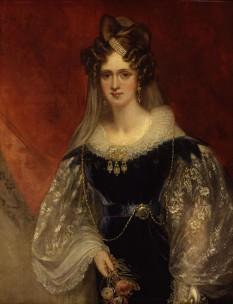 Prințesa Adelaide de Saxa-Meiningen (Adelaide Louise Theresa Caroline Amelia; mai târziu regina Adelaide; 13 august 1792 – 2 decembrie 1849), soția regelui William al IV-lea al Regatului Unit. Orașul australian Adelaide este numit după numele reginei - foto (Portret de Sir William Beechey, c.1831):  ro.wikipedia.org