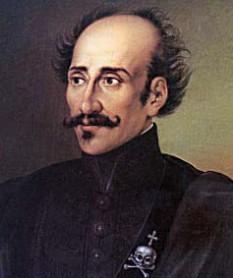 Alexandru Ipsilanti (n. 12 decembrie 1792, Constantinopol - d. 31 ianuarie 1828, Viena), conducătorul organizației Philiki Etaireia din 1820. Era fiul domnului Constantin Ipsilanti al Munteniei - foto: ro.wikipedia.org