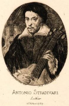 Antonio Stradivarius (n. 1644, Cremona - d. 18 decembrie 1737, Cremona), cunoscut lutier, un creator italian de instrumente muzicale cu coarde, în special viori, rămase celebre până astăzi - foto:  ro.wikipedia.org
