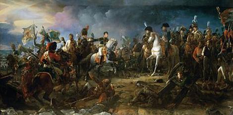 Bătălia de la Austerlitz, cunoscută și ca Bătălia celor trei împărați, a fost una dintre cele mai mari victorii ale lui Napoleon  foto (Napoléon la bătălia de la Austerlitz, de François Gérard):  ro.wikipedia.org