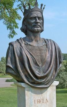 Béla I Campionul ori Bizonul (c. 1016–1063), rege al Ungariei din 1060 până la moartea sa - foto (Bustul lui Béla din Parcul de Istorie Național din Ópusztaszer):  ro.wikipedia.org