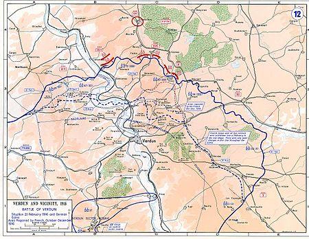 """Bătălia de la Verdun (21 februarie 1916 - 18 decembrie 1916), din timpul Primului Război Mondial, a mai fost numită și """"Abatorul"""" deoarece numărul de morți, răniți și dispăruți se ridică la 700 000 de persoane - foto:  ro.wikipedia.org"""