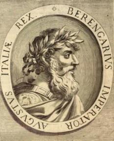 Berengario de Friuli (845-7 aprilie 924) a fost margraf de Friuli din 874 până între 890-896, Rege al Italiei ca și Berengario I din 887 și împărat al Imperiului carolingian din 915 până la moartea sa - foto: cersipamantromanesc.wordpress.com
