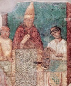 Papa Bonifaciu al VIII-lea a fost un papă al Romei între anii 1294-1303. Prin bula In supremae praeminentia dignitatis de la 20 aprilie 1303, a pus bazele Universității Sapienza din Roma, cea mai mare și cea mai veche universitate de stat din Roma. Este cunoscut pentru faptul cǎ a distrus localitatea Palestrina în luptele sale pentru putere, masacrându-i populația (6000 de suflete). Se culca cu femei căsătorite și era renumit în toată Roma pentru actele sale de pedofilie; ba mai mult, a declarat că sexul cu băieței nu este un păcat - foto: ro.wikipedia.org