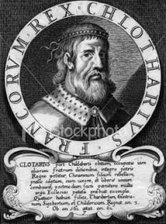 Chlothar I (numit și Clotaire sau Chloderic, supranumit le Vieux sau cel Bătrân) (497 – 561), rege al francilor, a fost unul dintre fiii lui Clovis. s-a născut în jurul anului 497 la Soissons (astăzi în departamentul Aisne, Picardia, Franța) - foto: freepages.family.rootsweb.ancestry.com