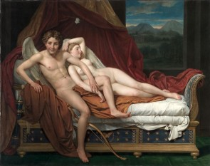 """Cupid şi Psyche"" - pictura de Jacques-Louis David (1817) - foto:  ro.wikipedia.org"