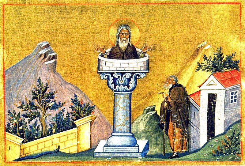 """Cuviosul și purtătorul de Dumnezeu, Părintele nostru Daniil Stâlpnicul (din grecescul """"stylos"""") a fost un pustnic care a trăit timp de treizeci și trei de ani pe un stâlp de lângă orașul Constantinopol. Sf. Daniil a fost ucenic al Sf. Simeon Stâlpnicul și a urmat exemplul acestuia după moartea sa. A fost consilier al împăraților romani Leon I, Zenon și Basilicus. Sf. Daniil este prăznuit la data de 11 decembrie - foto: doxologia.ro"""