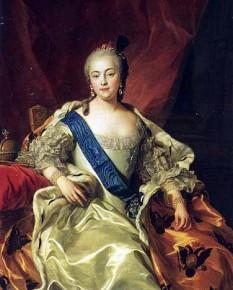 Elisabeta Petrovna (29 decembrie [S.V. 18 decembrie] 1709 — 5 ianuarie 1762 [S.V. 25 decembrie 1761]), cunoscută și ca Elisabeta, împărăteasă a Rusiei (1741 – 1762) care a implicat țara în Războiul austriac de succesiune (1740 – 1748) și în Războiul de 7 ani (1756 – 1763). Este cunoscută pentru dorința de expansiune teritorială a Rusiei - foto (Portret pictat de Charles van Loo): ro.wikipedia.org