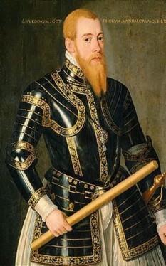 Eric al XIV-lea, suedeză Erik XIV (13 decembrie 1533 – 26 februarie 1577), rege al Suediei din 1560 până la detronarea sa din 1568 - foto (Eric al XIV-lea, portret de Domenicus Verwilt): ro.wikipedia.org
