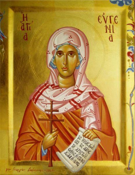 Sf. Cuv. Mc. Eugenia (180/183 - 258/262) -  foto preluat de pe doxologia.ro