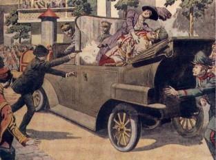 28 iunie 1914: Atentatul de la Sarajevo (Bosnia) - Asasinarea lui Franz Ferdinand - foto: cersipamantromanesc.wordpress.com