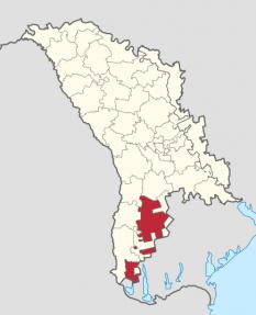 Găgăuzia pe harta Republicii Moldova - foto: ro.wikipedia.org