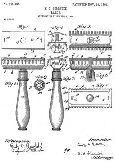 Patent drawing of the Razor - foto: en.wikipedia.org