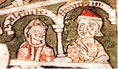 Henric al IX-lea (supranumit cel Negru) (n. 1075 – d. 13 decembrie 1126), membru al Casei de Welf, a fost duce de Bavaria între 1120 și 1126 - foto (Henric al IX-lea şi soţia sa, Wulfhild): ro.wikipedia.org