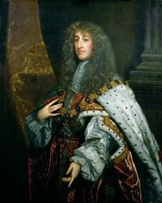 Iacob al II-lea al Angliei (engleză James II) (n. 14 octombrie 1633 – d. 16 septembrie 1701), rege al Angliei, rege al Scoției și rege al Irlandei, din 6 februarie 1685 până pe 11 decembrie 1688 - foto (James II by Peter Lely): ro.wikipedia.org