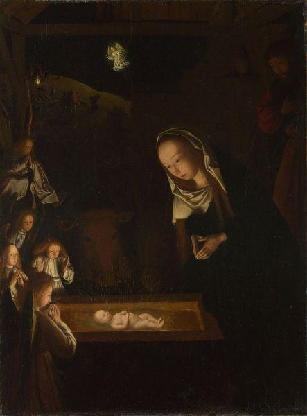 Nativity at Night, by Geertgen tot Sint Jans, c. 1490 - foto preluat de pe en.wikipedia.org