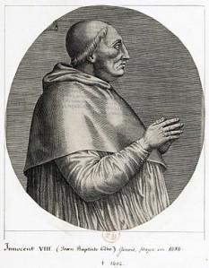 Pope Innocent VIII (Giovanni Battista Cybo (or Cibo)(1432 – July 25, 1492) Pope from 1484-1492 - foto preluat de pe  ro.wikipedia.org