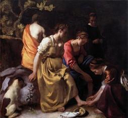 Jan Vermeer: Diana şi nimfele, 1655-56 - foto: ro.wikipedia.org