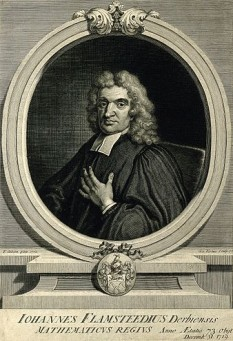 John Flamsteed (n. 19 august 1646, Denby, Derbyshire, Anglia - d. 31 decembrie 1719, Burstow, Surrey, Anglia), astronom englez, primul care a purtat titlul de Astronomer Royal (astronom regal) - foto: ro.wikipedia.org
