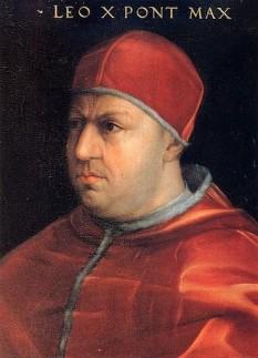 Papa Leon al X-lea (11 Decembrie 1475 - 1 Decembrie 1521), născut cu numele de Giovanni di Lorenzo de' Medici, a fost capul Bisericii Catolice din 9 martie 1513 până la moartea sa în 1521 - foto: ro.wikipedia.org