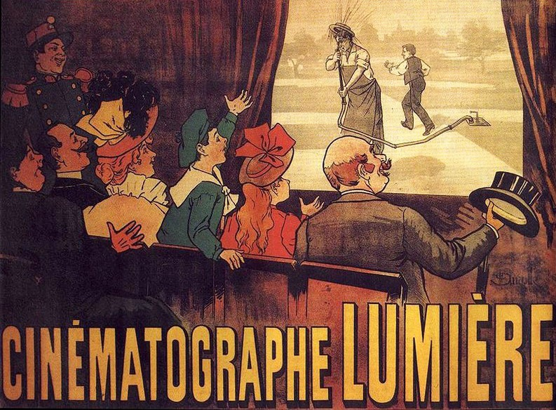 Afișul primelor spectacole de cinematograf Lumiére - foto preluat de pe ro.wikipedia.org
