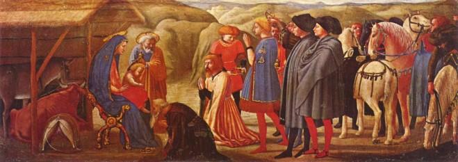 Masaccio: Adoraţia magilor, detaliu din Polipticul din Pisa. În prezent în Gemäldegalerie, Berlin - foto: ro.wikipedia.org