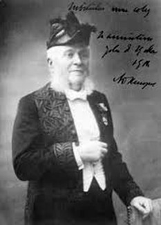 Nicolae Kalinderu (n. 6 decembrie 1835, București - d. 16 aprilie 1902, Ciulnița, Argeș), medic, din 1890 membru corespondent al Academiei Române - foto:  ro.wikipedia.org