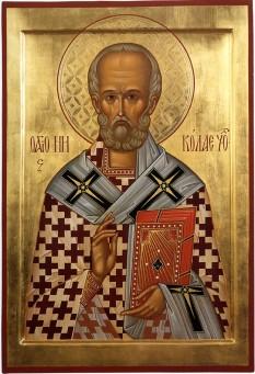 Cel între sfinți Părintele nostru Nicolae al Mirelor Lichiei, făcătorul de minuni a fost arhiepiscop de Mira, în sudul Asiei Mici (Turcia de azi), în secolul al IV-lea. Deși mai puțin cunoscut în Biserica romano-catolică, în Biserica Ortodoxă sfântul Nicolae este unul dintre cei mai iubiți și mai cinstiți sfinți în popor. Sfântul Nicolae este sfânt ocrotitor al multor țări (în special în Grecia și Rusia) și orașe, dar și al celor ce practică diferite meserii, ca de exemplu marinarii. Biserica face prăznuirea Sfântului Nicolae pe 6 decembrie (data adormirii și praznic principal), precum și la 9 mai (mutarea moaștelor sale) și pe 29 iulie (data nașterii sale)  foto: basilica.ro
