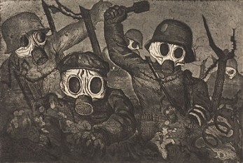 Stormtroopers Advancing Under Gas, etching and aquatint by Otto Dix, 1924 - foto: en.wikipedia.org