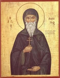 Sfântul Cuvios Patapie (sec. VII) – S-a născut în oraşul Teba (Egipt) din părinţi binecredincioşi. Biserica Ortodoxă îl prăznuiește în ziua de 8 decembrie  foto: basilica.ro