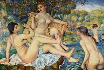 "Pierre-Auguste Renoir: ""Les grandes baigneuses"", 1884 - foto:  ro.wikipedia.org"