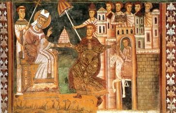 Silvestru I (d. 31 decembrie 335, Roma), papă al Romei din 314 și până în 335. Conform legendei, papa Silvestru l-a vindecat pe împăratul Constantin cel Mare de lepră și l-a botezat. În spațiul central-european (de limbă germană, polonă, cehă, maghiară etc.) petrecerea de revelion este numită Silvester, după numele sfântului zilei de 31 decembrie - foto (Papa Silvestru I și împăratul Constantin cel Mare): ro.wikipedia.org