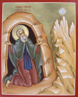 Sfântul Simon Izvorâtorul de mir, ctitorul Mănăstirii Simono-Petra. Prăznuirea sa în Biserica Ortodoxă se face la 28 decembrie - foto: doxologia.ro