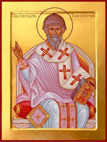 Sf. Ier. Spiridon, episcopul Trimitundei, făcătorul de minuni (270 - 348) - foto preluat de pe doxologia.ro