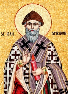 Sfântul Ierarh Spiridon, Episcopul Trimitundei - S-a născut în jurul anului 270, în Askia, Cipru. Biserica Ortodoxă îl prăznuiește în ziua de 12 decembrie - foto: basilica.ro