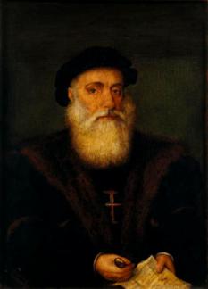 Vasco da Gama, conte de Vidigueira (n. 1460 sau 1469, Sines - d. 24 decembrie 1524, Kochi, India), explorator portughez din perioada Marilor descoperiri care a descoperit calea maritimă dintre Europa și India - foto: ro.wikipedia.org