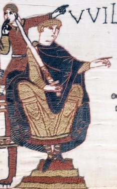 William Cuceritorul sau William I al Angliei sau William de Normandia (c. 1028 – 9 septembrie 1087), rege al Angliei din 1066 până în 1087 - foto (William Cuceritorul, detaliu de pe Tapiseria din Bayeux): ro.wikipedia.org