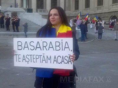 Susţinători ai unirii cu Republica Moldova au defilat cu o 100 de maşini de la Bucureşti la Ploieşti (Imagine: Daciana Ilie/Mediafax Foto)