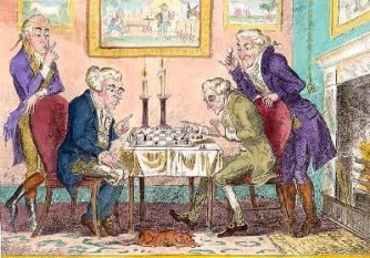 """4 ianuarie 1835: În ziarul britanic """"Bells Life"""" apare prima rubrică de șah din lume - foto: cersipamantromanesc.wordpress.com"""