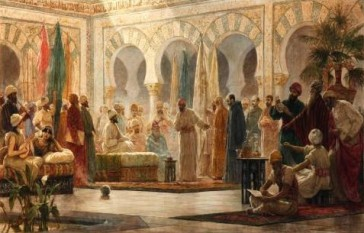 Abd-ar-Rahman III and his court in Medina Azahara, by Dionisio Baixeras Verdaguer - foto: en.wikipedia.org