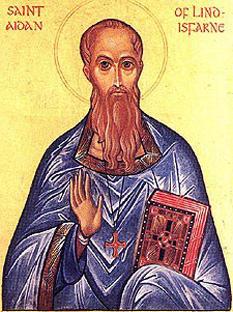 Sfântul irlandez Aidan, (m. 31 ianuarie 632), primul episcop de Ferns (Wexford)