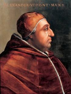 Papa Alexandru al VI-lea (n. 1 ianuarie 1431, Xativa, lângă Valencia, Spania; d. 18 august 1503, Roma) este numele sub care a devenit Papă al Bisericii Catolice Roderic Borja, descendent al unei familii nobiliare catalane atestată din secolul al XIII-lea, fiu al lui Jofre Lançol și Isabella Borja, și nepot de soră al Papei Calixt al III-lea (fostul cardinal Alfonso Borja, la vremea nașterii nepotului său - foto: ro.wikipedia.org