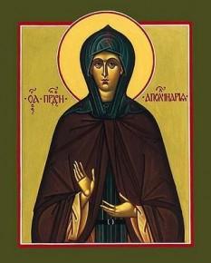 Sfânta Cuvioasă Apolinaria. Pomenirea sa de către Biserica ortodoxă se face la data de 4 ianuarie - foto: doxologia.ro