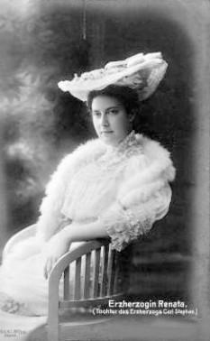 Arhiducesa Renata de Austria (2 ianuarie 1888 – 9 decembrie 1935), fiica cea mare a Arhiducelui Karl Stephen de Austria și verișoara primară a regelui Alfonso al XIII-lea al Spaniei - foto: ro.wikipedia.org