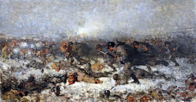 Atacul de la Smârdan (12/24 ianuarie 1878), în viziunea pictorului Nicolae Grigorescu - foto preluat de pe ro.wikipedia.org