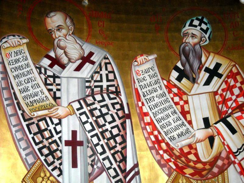 Sfinții Ierarhi Atanasie și Chiril, Arhiepiscopi ai Alexandriei. Pomenirea lor de catre Biserica Ortodoxa se face la data de 18 ianuarie - foto preluat de pe doxologia.ro