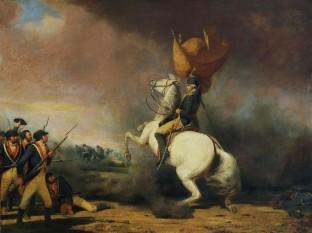Bătălia de la Princeton, parte a Războiul de Independență al Statelor Unite ale Americii. Pictură ce-l reprezintă pe George Washington adunându-și trupele la bătălia de la Princeton - foto: ro.wikipedia.org
