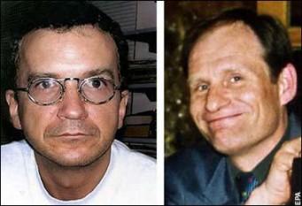 30 ianuarie 2004: Un canibal este condamnat in Germania. Armin Meiwes in varsta de 42 de ani, a fost condamnat la opt ani şi jumătate de închisoare, pentru ca a ucis si mancat un barbat care s-a oferit voluntar - in imagine, Victima si asasinul ei : Bernd Brandes si Armin Meiwes. Victima: inginerul Bernd Brandes a fost dispus sa se lase mancat - foto: cersipamantromanesc.wordpress.com