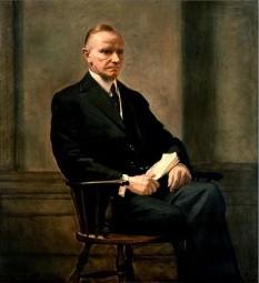 Calvin Coolidge, pe numele său complet John Calvin Coolidge, Jr. (n. 4 iulie 1872 - d. 5 ianuarie 1933) a fost cel de-al douăzeci și nouălea vicepreședinte (1921 - 1923) și cel de-al treizecilea președinte al Statelor Unite ale Americii (1923 - 1929), succedând în oficiul președenției după moartea lui Warren G. Harding. Calvin Coolidge a condus o politică foarte conservativă în domeniul economic - foto: ro.wikipedia.org